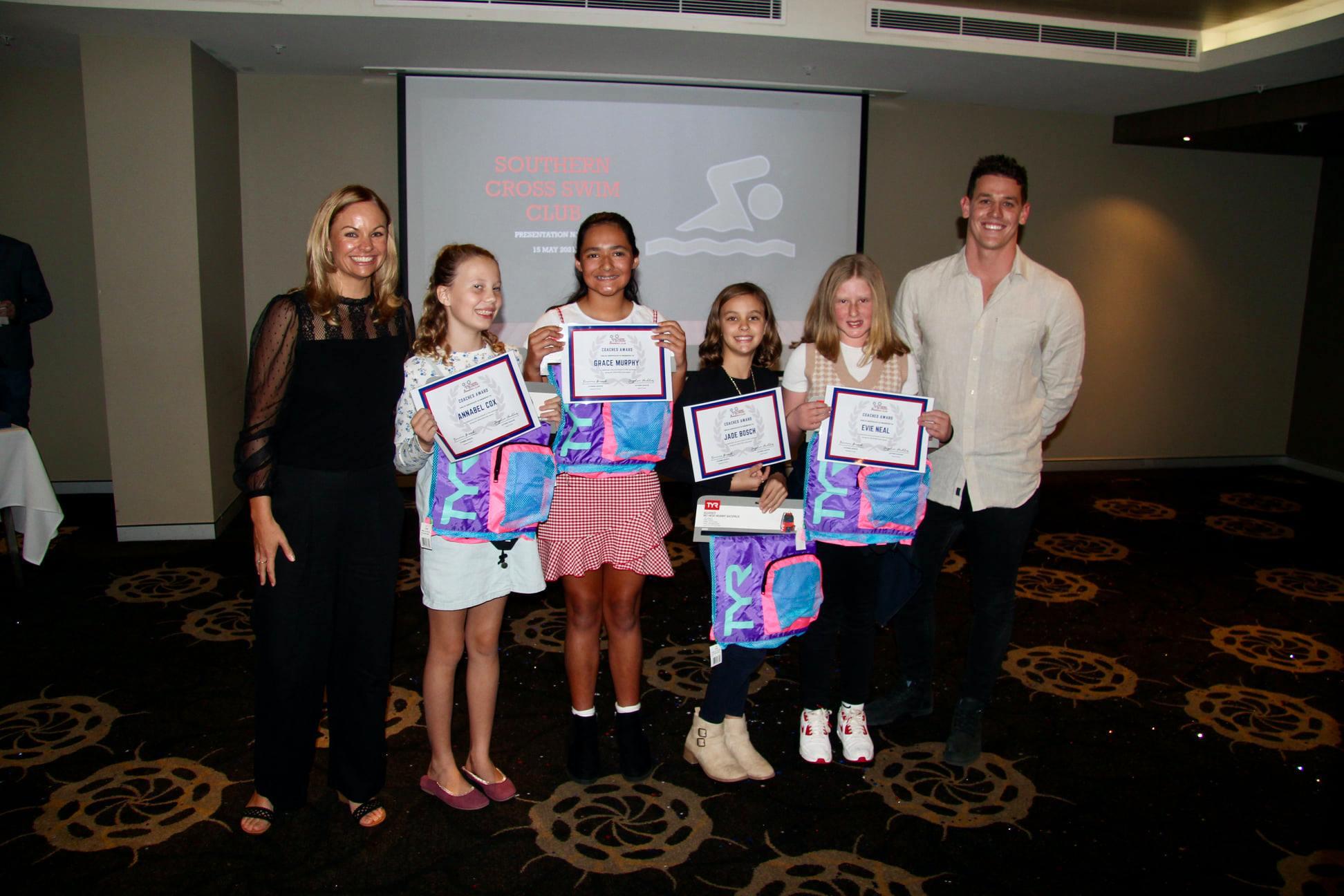 Southern Cross swimming Club Presentation Night 2021 Champions